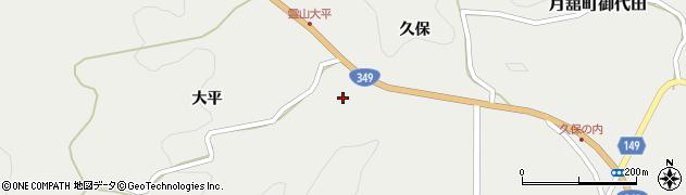 福島県伊達市月舘町御代田(越田)周辺の地図
