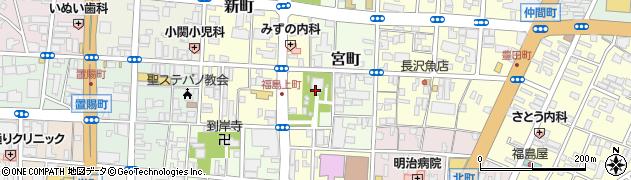 福島稲荷神社周辺の地図