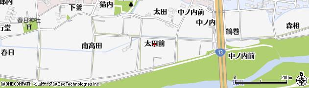 福島県福島市下野寺(太田前)周辺の地図