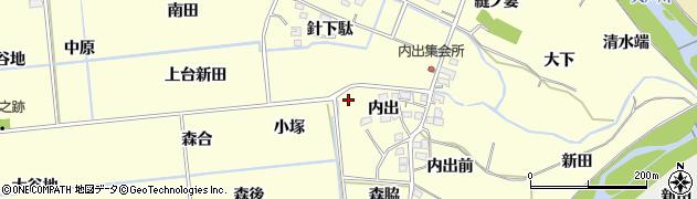 福島県福島市二子塚周辺の地図