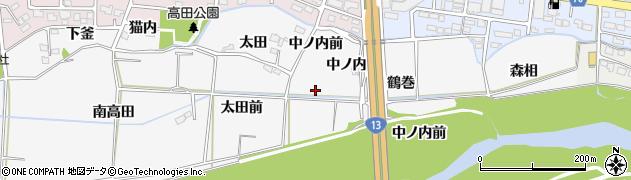 福島県福島市下野寺(中ノ内前)周辺の地図