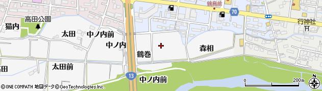 福島県福島市下野寺(鶴巻前)周辺の地図