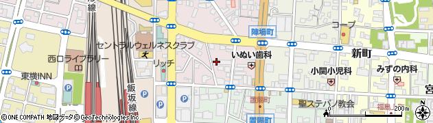福島県福島市陣場町周辺の地図