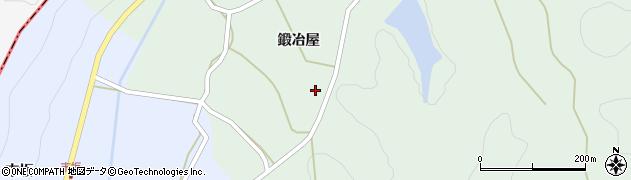 福島県伊達市霊山町下小国(鍛冶屋)周辺の地図