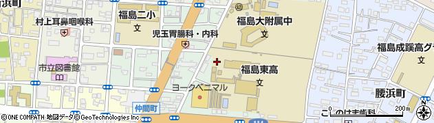 福島県福島市浜田町周辺の地図