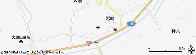 福島県福島市大波(岩崎)周辺の地図
