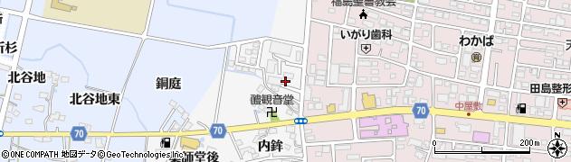福島県福島市下野寺(北田)周辺の地図