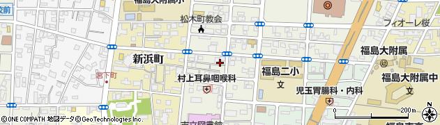 福島県福島市松木町周辺の地図