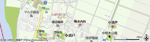 新潟県新潟市秋葉区小須戸周辺の地図