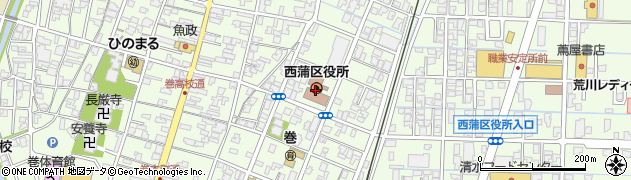 新潟県新潟市西蒲区周辺の地図