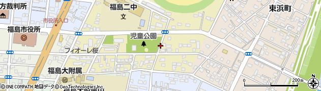 福島県福島市桜木町周辺の地図