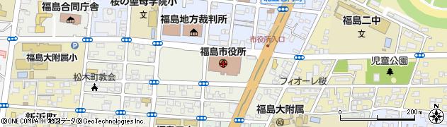 福島県福島市周辺の地図