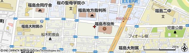 福島市役所 水道局給水課周辺の地図