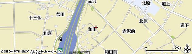福島県福島市上野寺(和田)周辺の地図