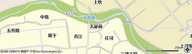 福島県福島市二子塚(天戸前)周辺の地図