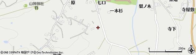 福島県福島市山口(一本杉)周辺の地図