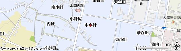 福島県福島市笹木野(中小針)周辺の地図