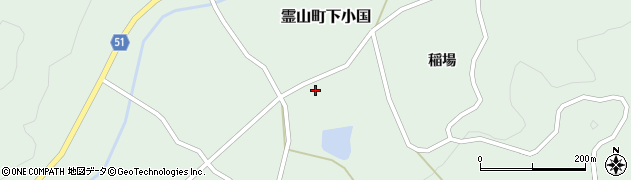 福島県伊達市霊山町下小国(田ノ入)周辺の地図