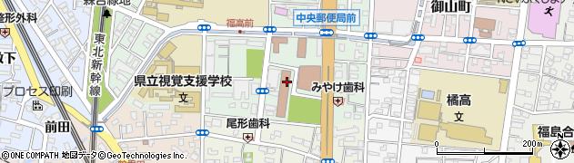 福島市役所保健所 健康推進課成人保健係周辺の地図