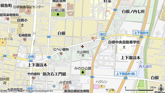 〒950-1216 新潟県新潟市南区白根ノ内七軒の地図