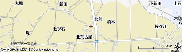 福島県福島市上野寺(北浦)周辺の地図