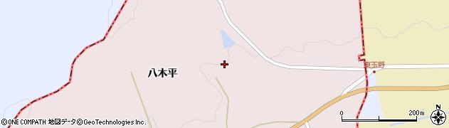 福島県伊達市霊山町石田(八木平)周辺の地図