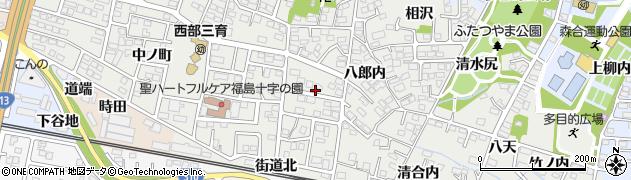 福島県福島市野田町(上沼田)周辺の地図