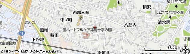 福島県福島市野田町(台)周辺の地図