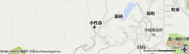 福島県福島市山口(小性森)周辺の地図