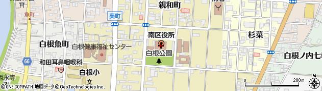 新潟県新潟市南区周辺の地図