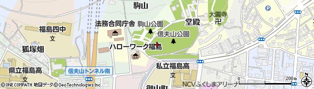 福島県福島市太子堂周辺の地図