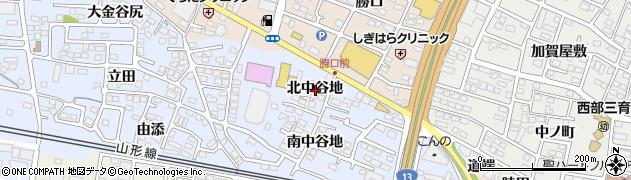 福島県福島市笹木野(北中谷地)周辺の地図