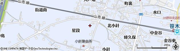 福島県福島市笹木野(星段)周辺の地図