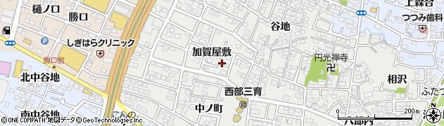 福島県福島市野田町(加賀屋敷南)周辺の地図