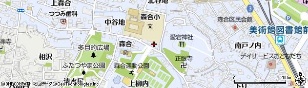 りんごっこ森合周辺の地図