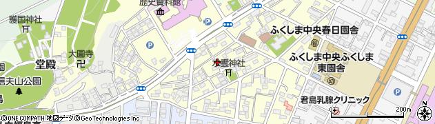 福島県福島市春日町周辺の地図
