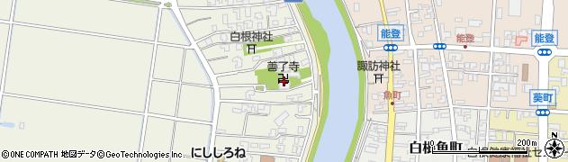 善了寺周辺の地図