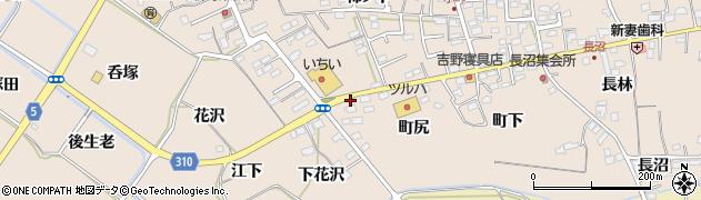 福島県福島市町庭坂(町尻)周辺の地図