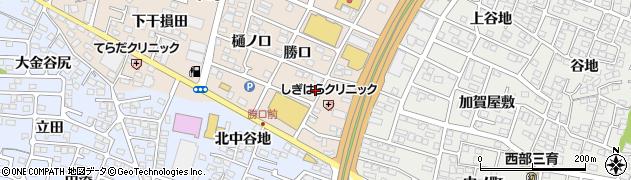 福島県福島市八島田(勝口)周辺の地図