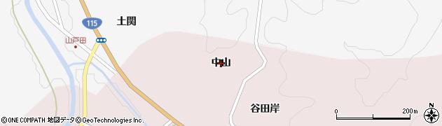 福島県伊達市霊山町石田(中山)周辺の地図