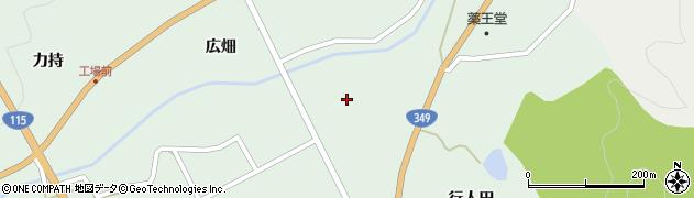 福島県伊達市霊山町下小国(道割堂)周辺の地図