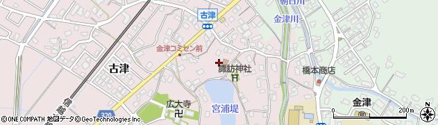 新潟県新潟市秋葉区古津周辺の地図