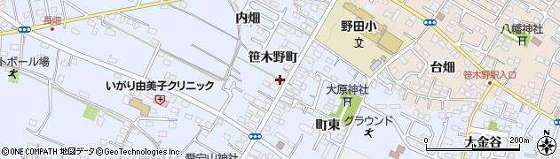 福島県福島市笹木野(笹木野町)周辺の地図