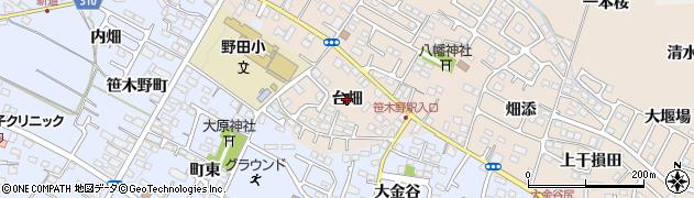 福島県福島市八島田(台畑)周辺の地図