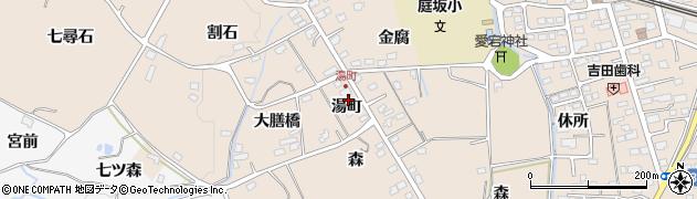 福島県福島市町庭坂(湯町)周辺の地図