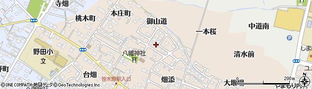 福島県福島市八島田(八幡北)周辺の地図
