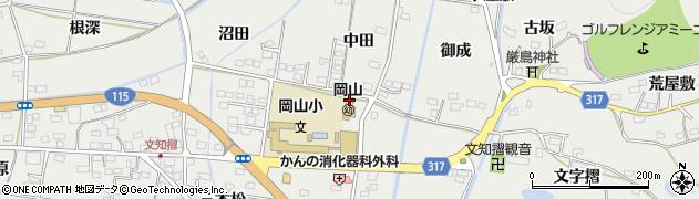 福島県福島市山口(上中田)周辺の地図