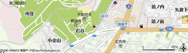 福島県福島市石田周辺の地図