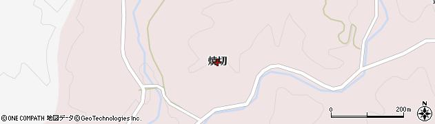 福島県伊達市霊山町石田(焼切)周辺の地図