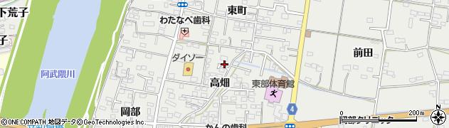 福島県福島市岡部(高畑)周辺の地図